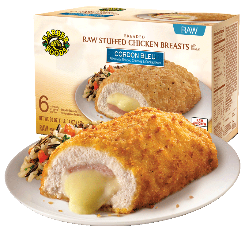 Stuffed Chicken Breasts Barber Foods