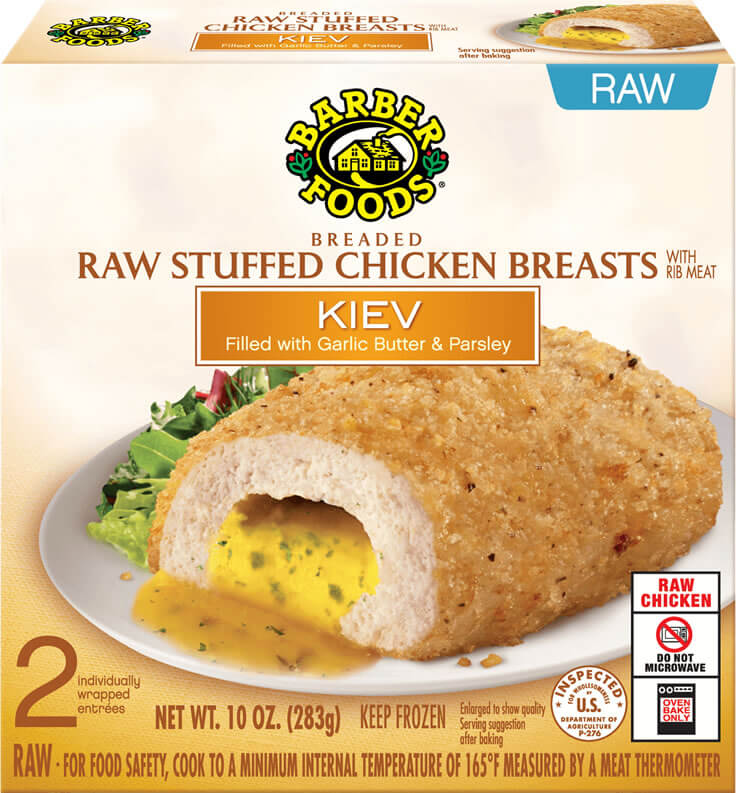 Chicken Kiev Easy Meals Barber Foods